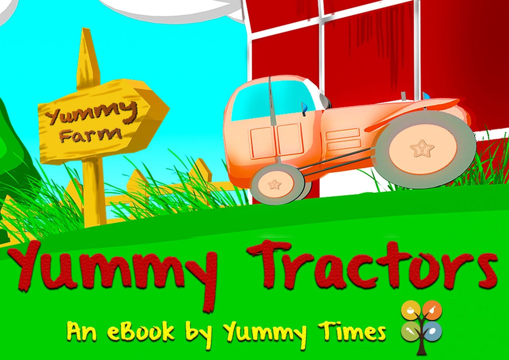 Yummy Tractors eBook (Bilingual German Edition)