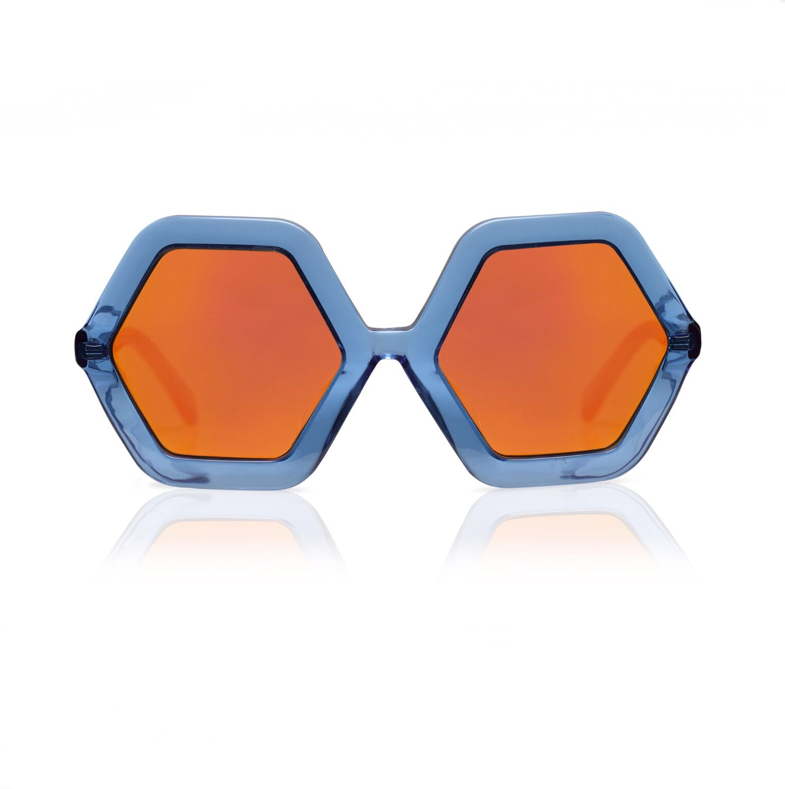 HONEY Blue Jelly w/ Mirror Sunglasses - by SONS + DAUGHTERS Eyewear