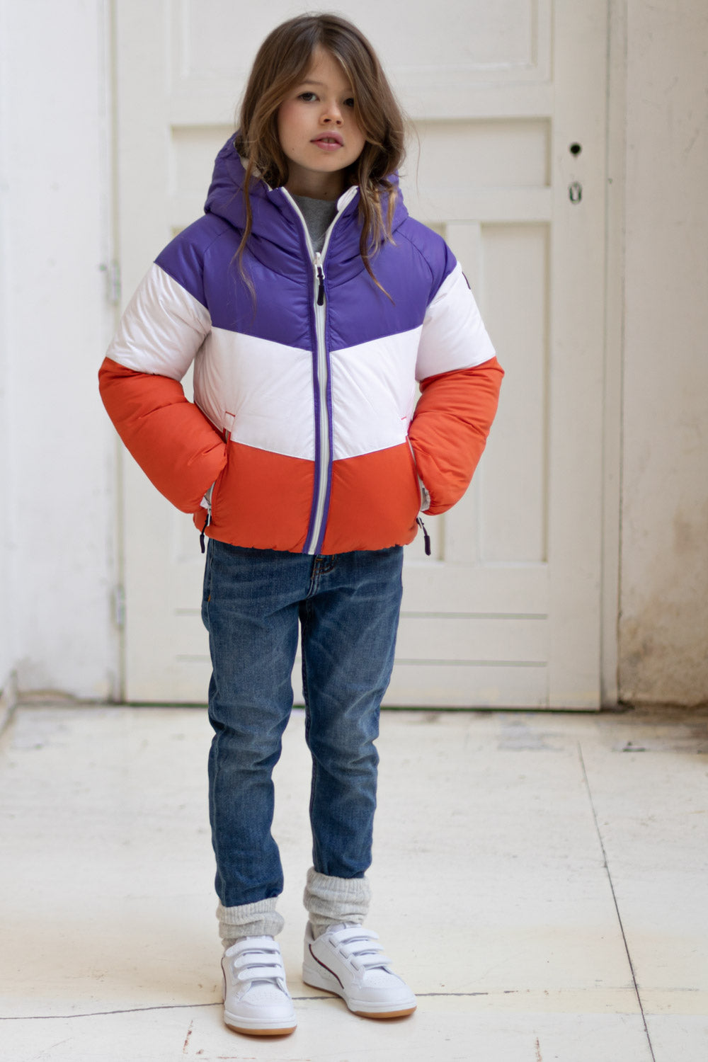 SNOWDANCE Off White - Reversible Down Jacket