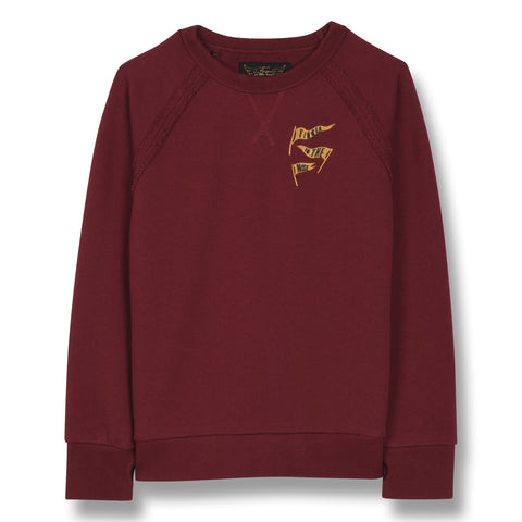 HANK Burgundy Flags - Raglan Sleeve Sweatshirt