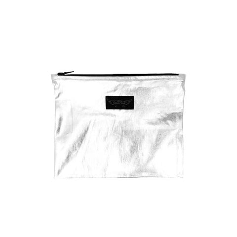 CLASS Silver Woven Pouch - by Finger In The Nose