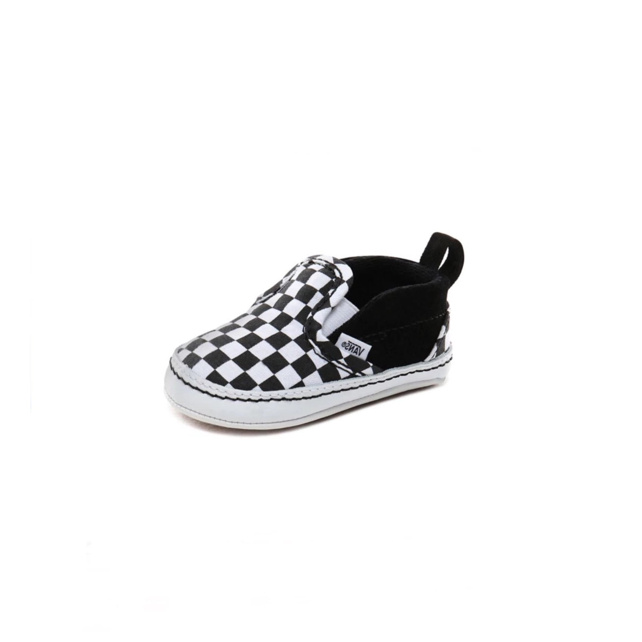 VANS Infant Checkerboard Slip-on V Crib - (Checker) Black-True White