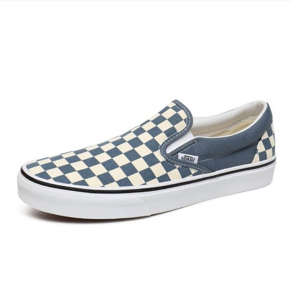VANS Checkerboard Classic Slip-on - (Checkerboard) Blue Mirage-True White
