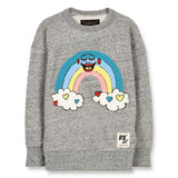 ACADEMY Heather Grey Rainbow - Round Neck Sweatshirt 1