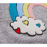 ACADEMY Heather Grey Rainbow - Round Neck Sweatshirt 5