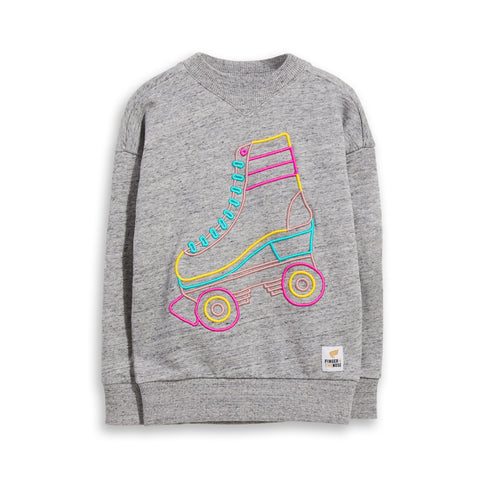 ACADEMY Heather Grey Roller -  Crew Neck Sweatshirt 1