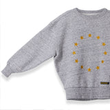 ACADEMY Heather Grey Stars -  Knitted Round Neck Sweatshirt 3