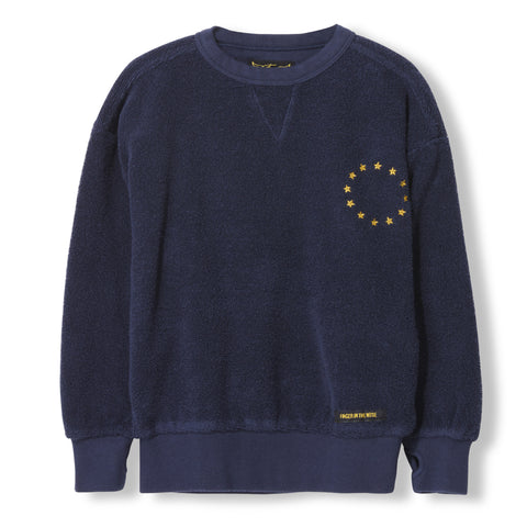 ACADEMY Night Blue Stars -  Knitted Round Neck Sweatshirt 1
