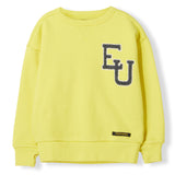 ACADEMY Yellow EU -  Woven Knitted Neck Sweatshirt 1