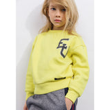 ACADEMY Yellow EU -  Woven Knitted Neck Sweatshirt 2