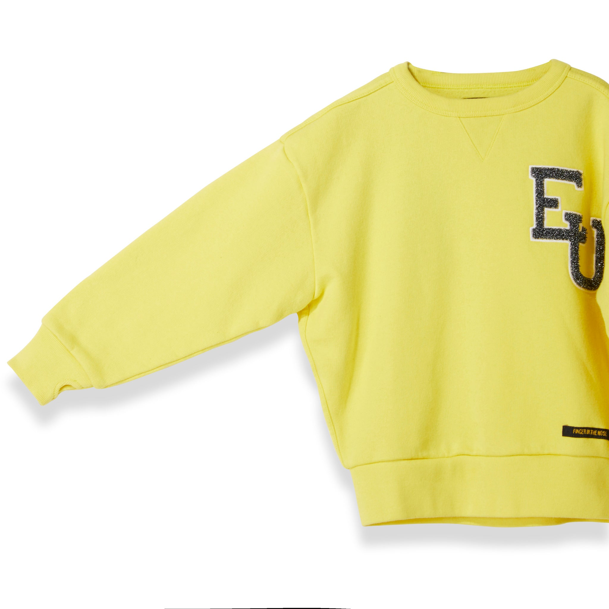 ACADEMY Yellow EU -  Woven Knitted Neck Sweatshirt 4