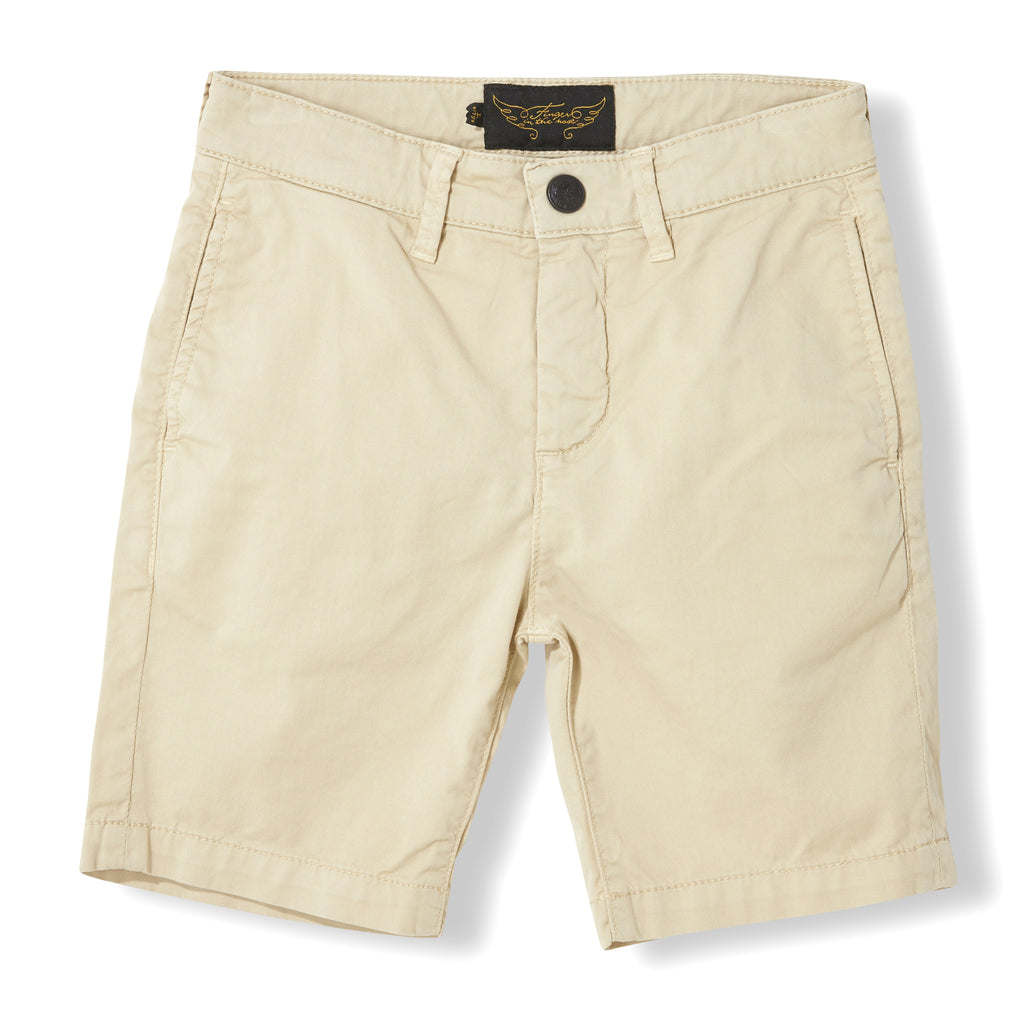 ALLEN Beige - Boy Woven Chino Fit Bermudas  Shorts 1