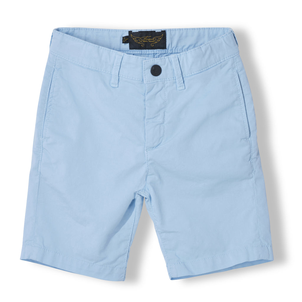 ALLEN Milky Blue - Boy Woven Chino Fit Bermuda  Shorts 1