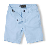 ALLEN Milky Blue - Boy Woven Chino Fit Bermuda  Shorts 3