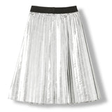 AMERY Silver -  Woven Pleated Skirt 3