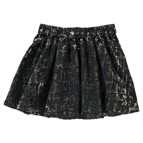 ANNIX Black Lamé Gold - Lamé Skirt