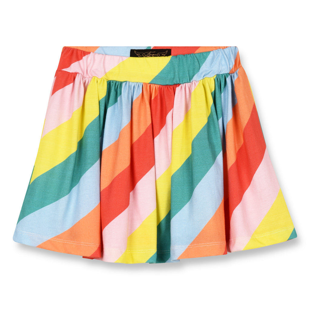 ANNIX Multicolor Stripes - Jersey Mini Skirt 1