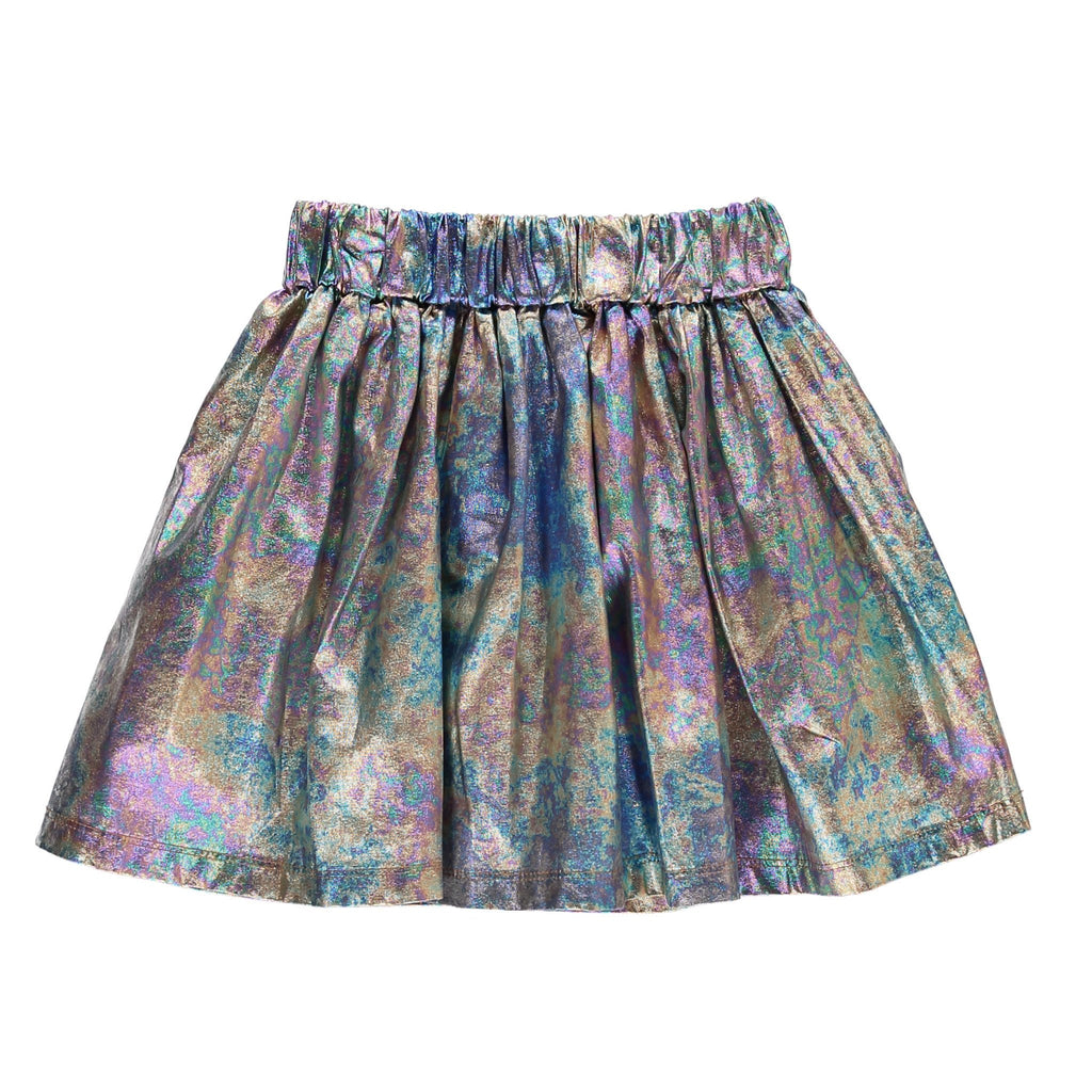 ANNIX Multicolour Metal - Lamé Mini Skirt