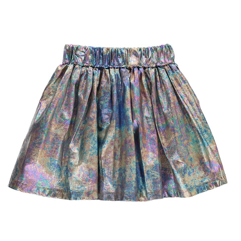ANNIX Multicolour Metal - Girls Knitted Mini Skirt