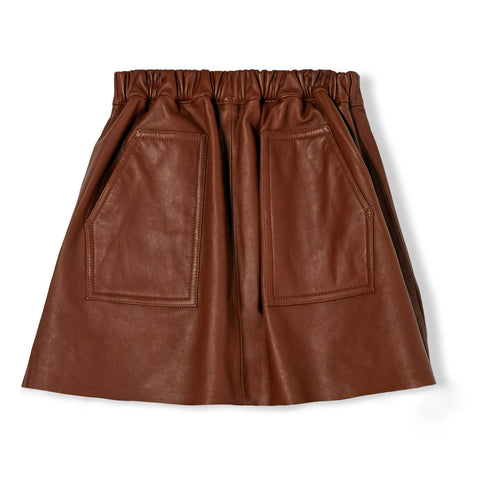 ASHBY Rust Leather - Skirt
