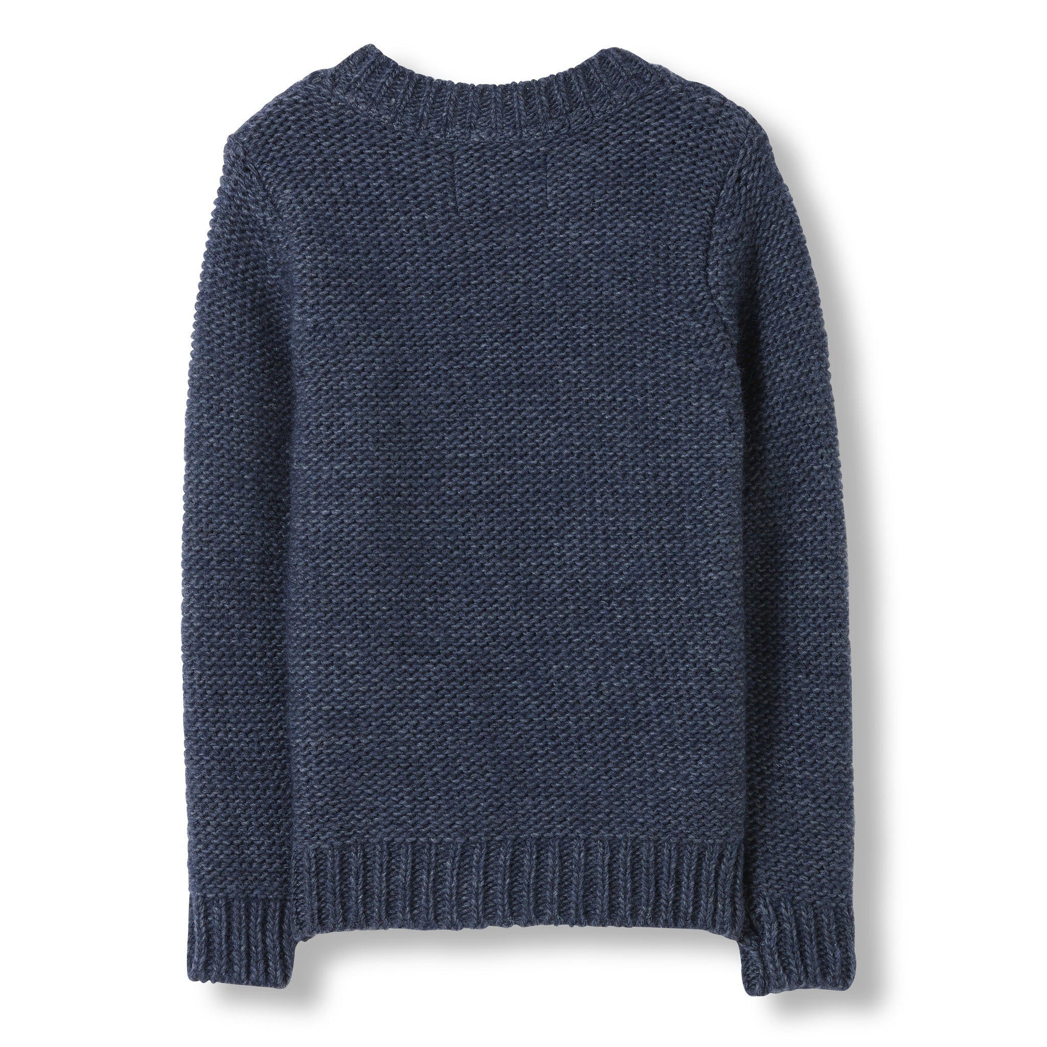 AVERY Indigo -  Heavy Knitted Round Neck Cable Jumper 2