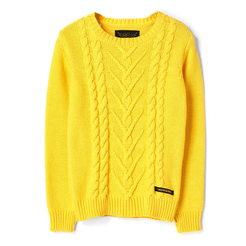 AVERY Lemon - Round Neck Cable Sweater