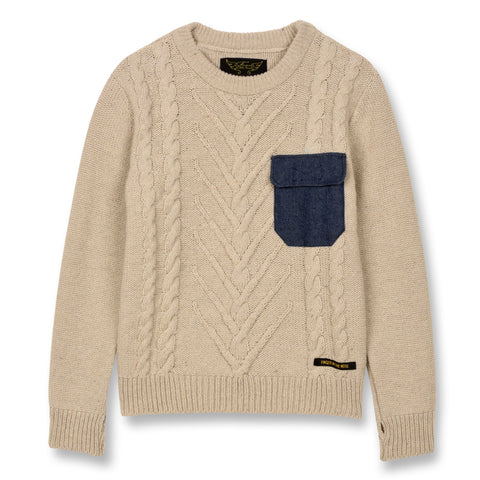 AVERY Natural - Round Neck Cable Jumper 1