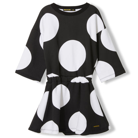 AWARD Black Polka Dots -  Knitted Dress 1
