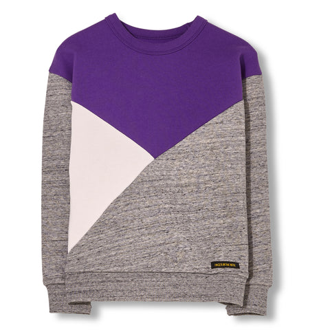 JECKY Heather Grey - Colorblock Sweater
