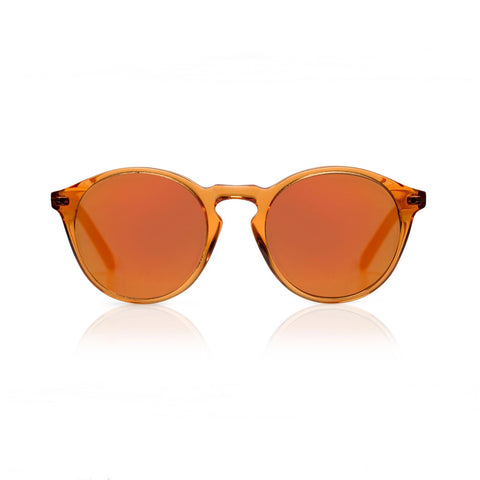 CLARK SUN Orange Jelly w/ Mirror Sunglasses - by SONS + DAUGHTERS Eyewear