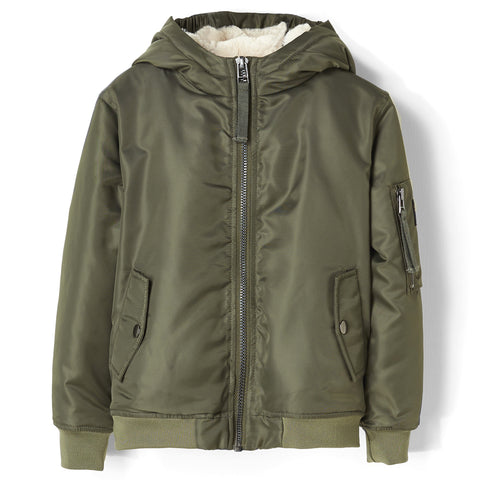 BALTIMORE City Khaki - Hooded Bomber Jacket