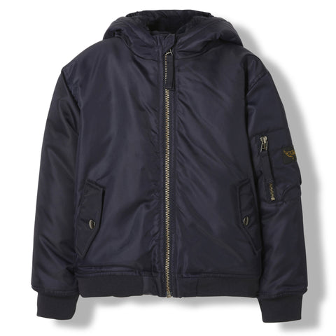 BALTIMORE Night Blue -  Woven Hooded Jacket 1
