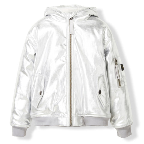 BALTIMORE Silver -  Woven Hooded Jacket 1