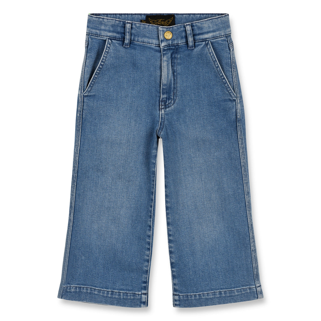 BARBRA Blue Denim - Cropped Large Jeans 1