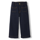 BARBRA Raw Denim Blue -  Woven Cropped Large Jeans 1