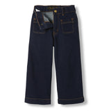 BARBRA Raw Denim Blue -  Woven Cropped Large Jeans 4