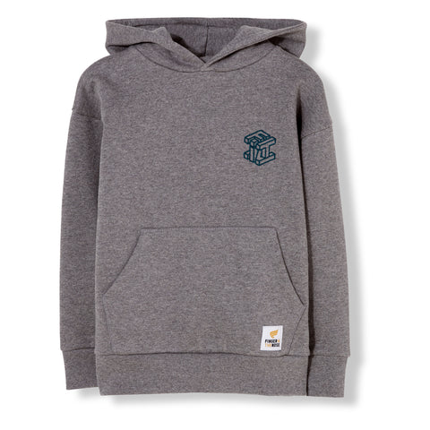 BARNEY Dark Heather Grey - Oversized Hoody 1