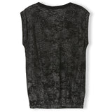 BARRINGTON Black Hologram - Girl Knitted Sleeveless T-Shirt