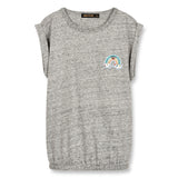 BARRINGTON Heather Grey Rainbow - Sleeveless T-Shirt 1