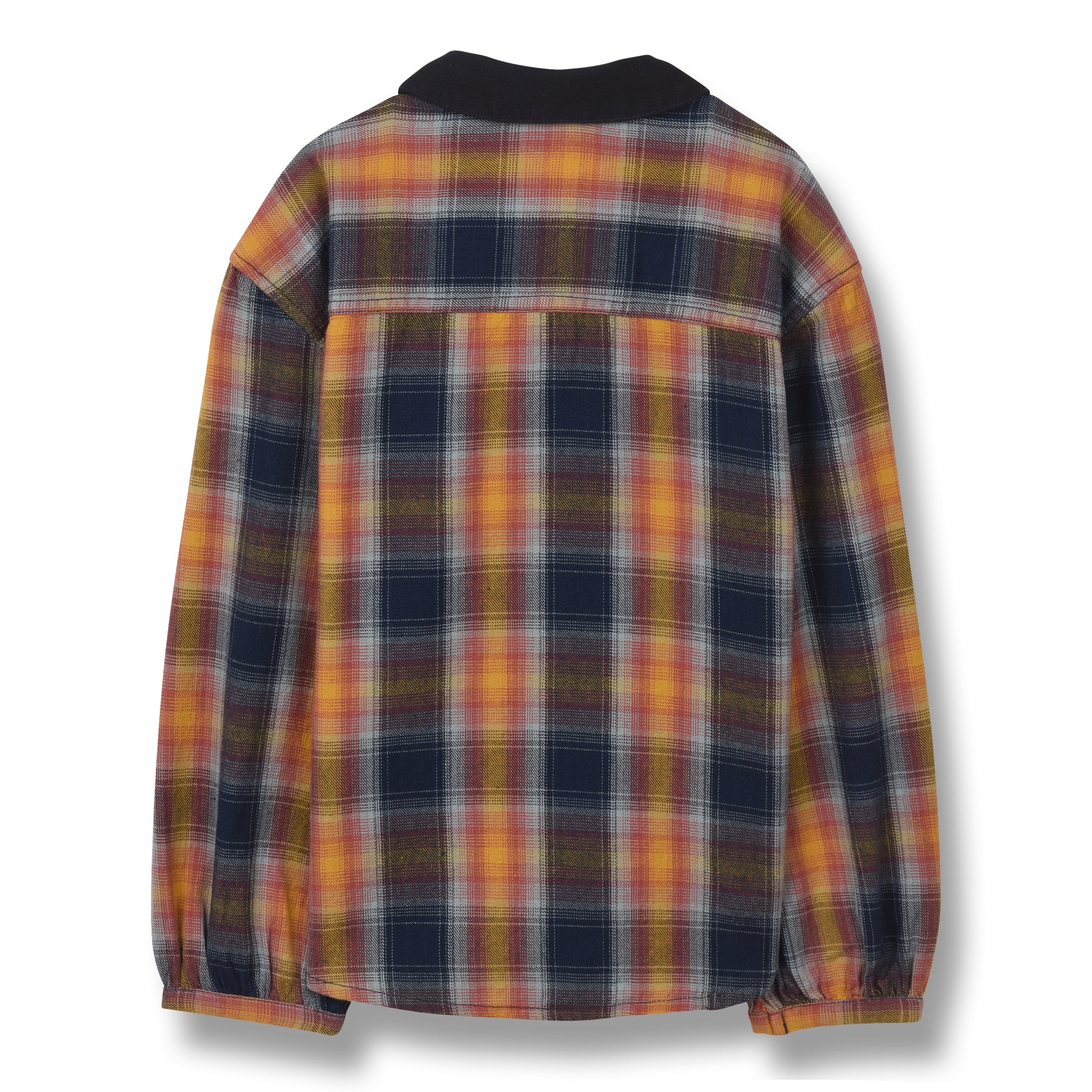 BETH Multicolor Checker - Oversized Long Sleeves Shirt 2