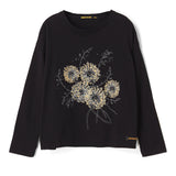 BIGTEE Black Dandelion - Oversized Long Sleeves T-Shirt
