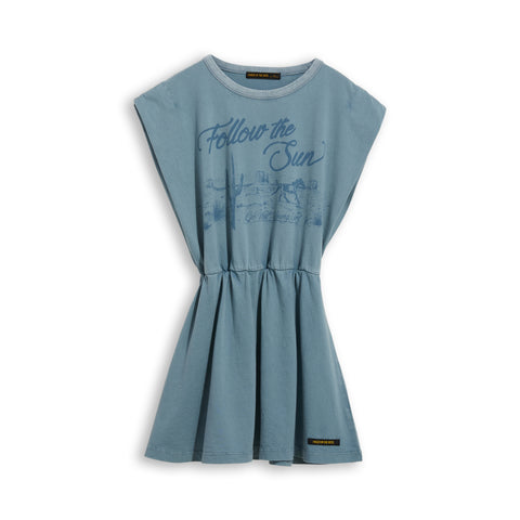 BILLIE Stone Blue Canyon Horse - Sleevesless Dress 1