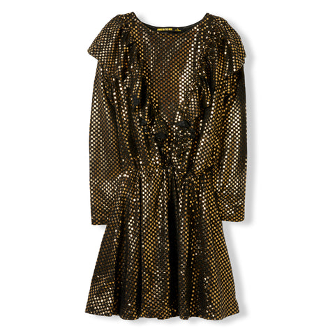 BIRDY Gold Metal Checkers -  Knitted Dress 1