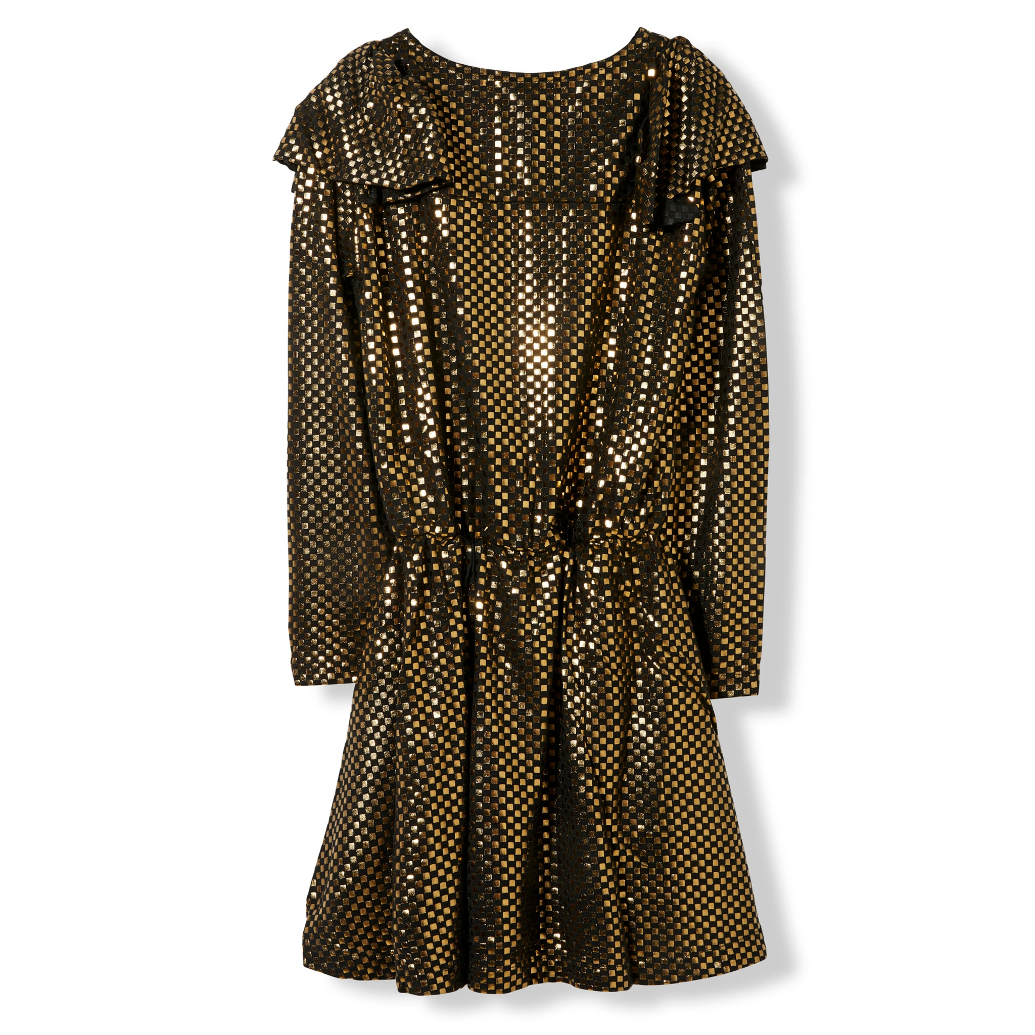 BIRDY Gold Metal Checkers -  Knitted Dress 2