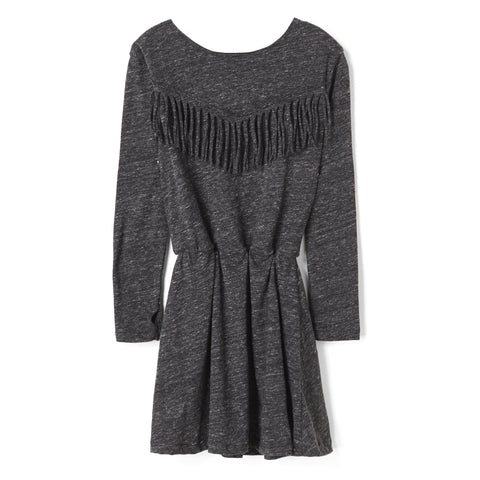 BIRDY Heather Anthracite Fringes - Jersey Dress