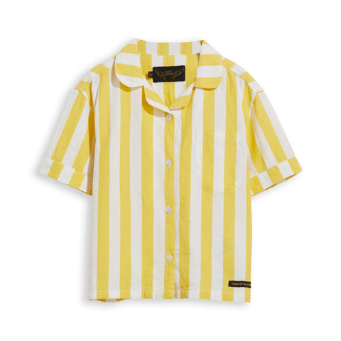 BLAIR Yellow Stripes - Short Sleevess Shirt 1