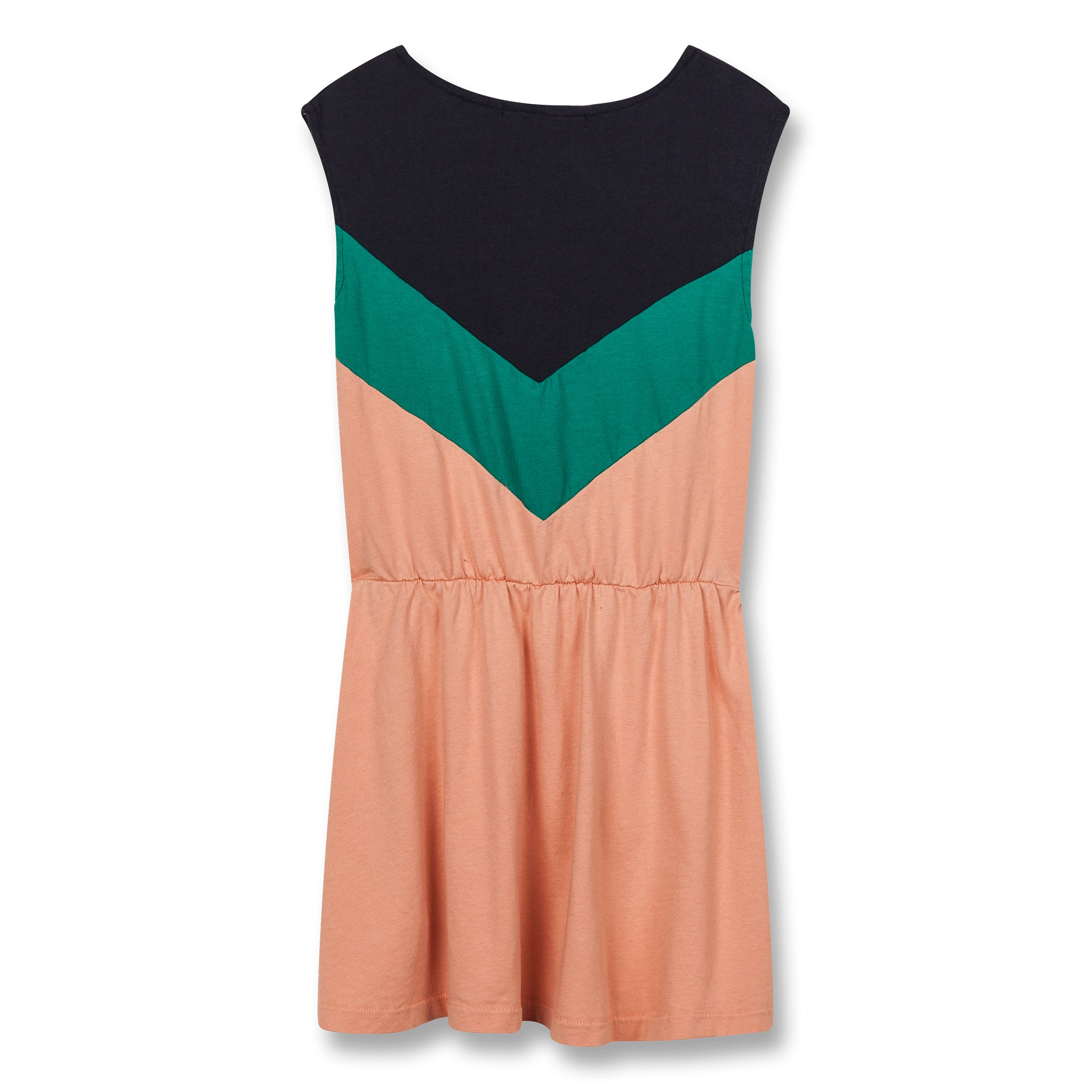 BOBBIE Powder Pink Colorblock - Sleeveless Dress 3