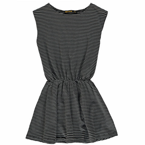 BOBBIE Summer Black Stripes - Girl Sleeveless Jersey Dress