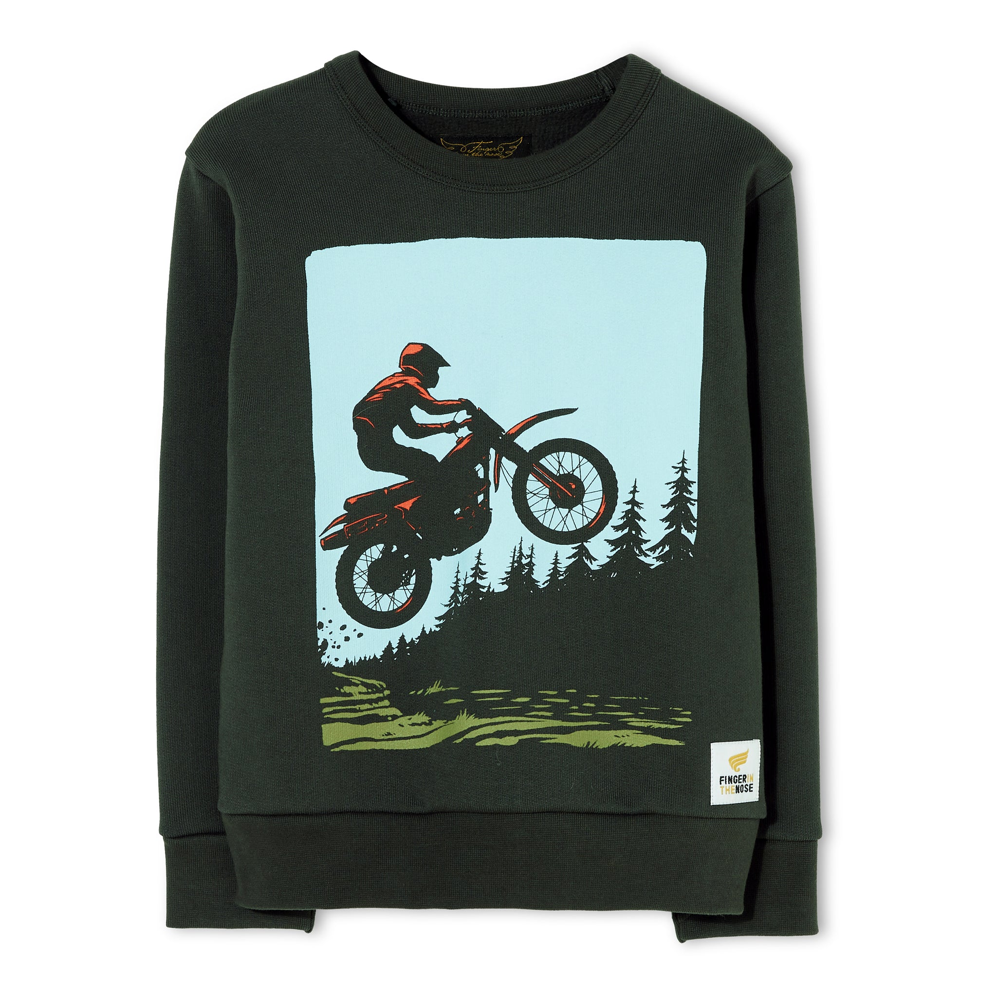 BRIAN Ash Black Moto - Crew Neck Sweater 1