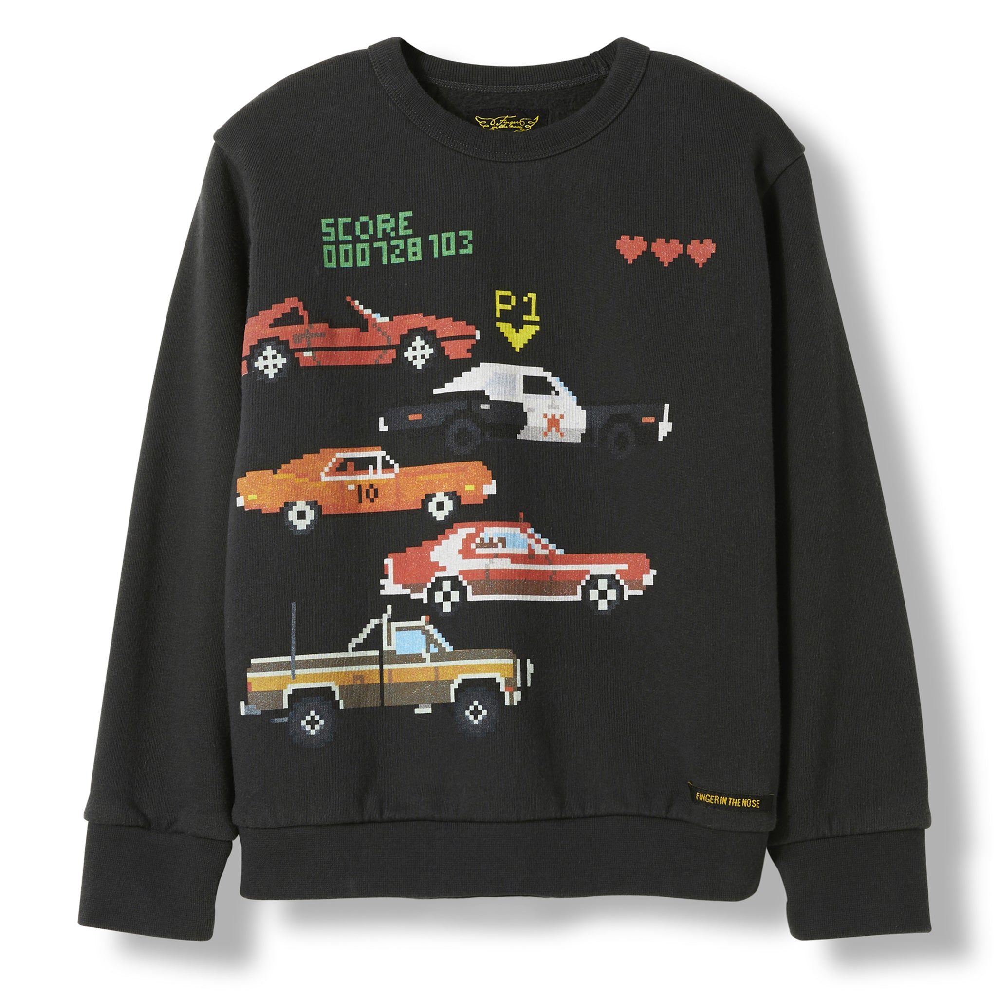 BRIAN Ash Black TV Cars -  Knitted Crew Neck Sweatshirt 1